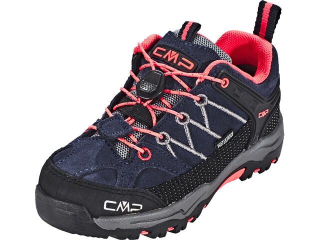 CMP Campagnolo Rigel Low WP Trekking Schoenen Kinderen, antracite-red fluo